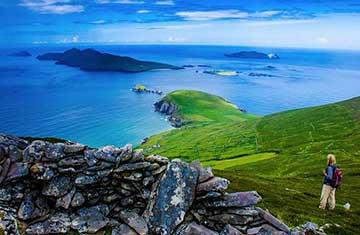 Walking on the Dingle Peninsula Ireland