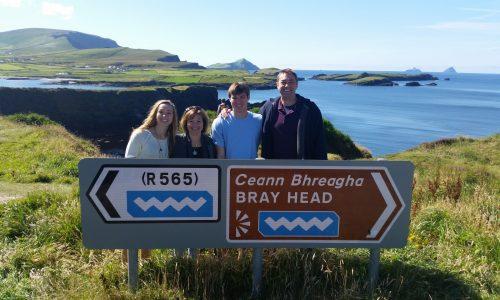 Family enjoying Ring of Kerry