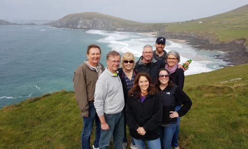 Happy group on Dingle Slea Head tour