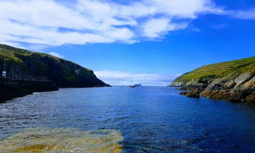 Ring of Kerry, looking out to the Skelligs