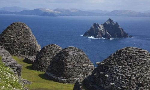 Beehive huts from Starwars in Ireland